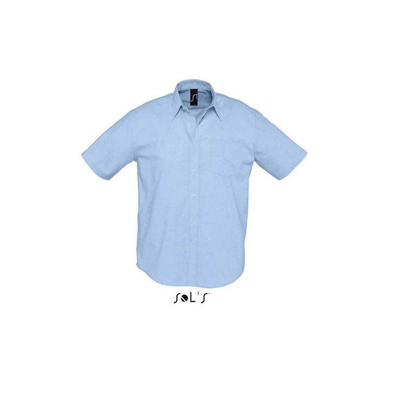Pánská košile(SOLS BRISBANE MENS SHORT SLEEVE OXFORD SHIRT) modrá (sky) 3XL b72d2648d2