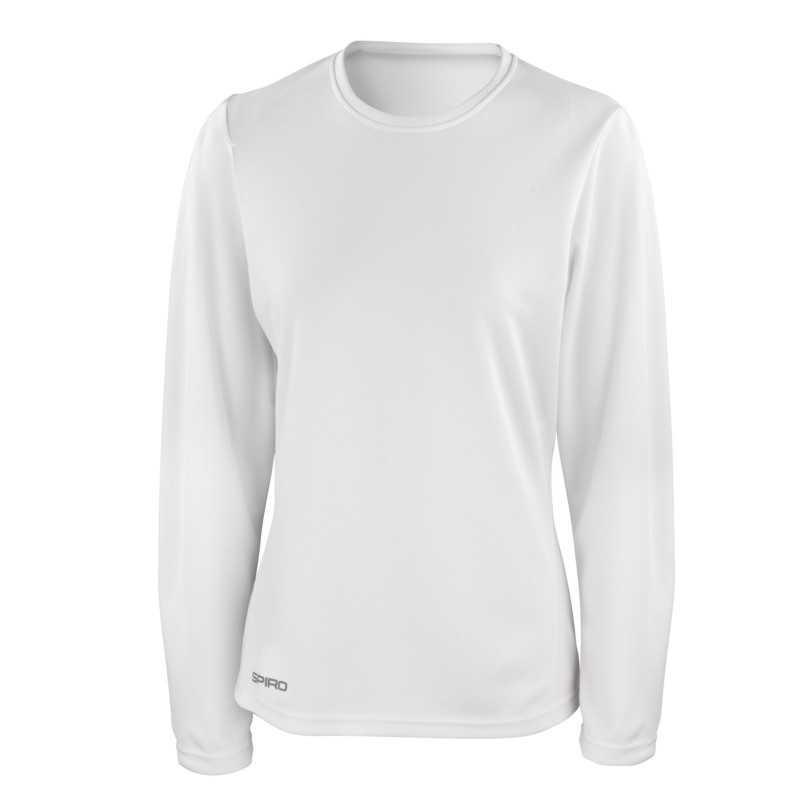 Dámské tričko (SPIRO LADIES QUICK-DRY LONG SLEEVE T-SHIRT) bílá XS -  Reklamní předměty 4926c3c877