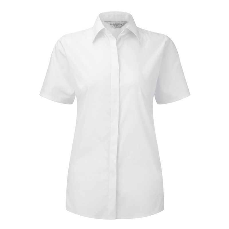 3d2a02e662a Dámská košile (RUSSELL S S ULT STRETCH SHIRT W) bílá 2XL - Reklamní ...