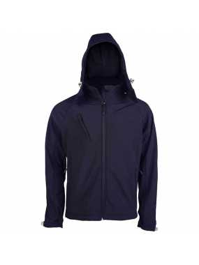 Pánská softshell bunda (KARIBAN MENS HOODED SOFTSHELL JACKET)>modrá (navy)>M