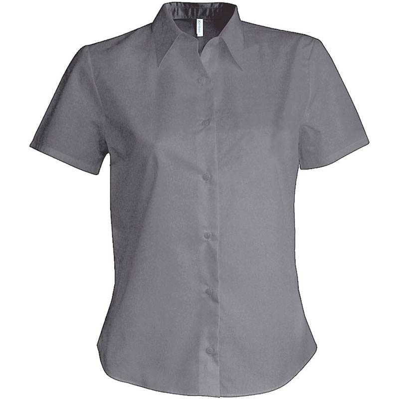 Dámská košile(KARIBAN LADIES SHORT SLEEVE SHIRT) stříbrná (oxford) L ... 6c479303b0