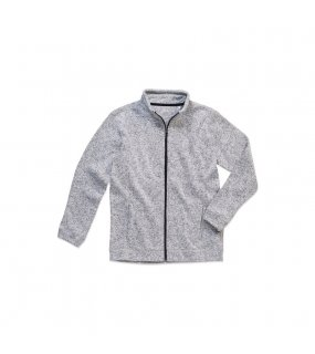 Pánská mikina (STEDMAN Active Knit Fleece Jacket)>šedá (lightmelange)>XL