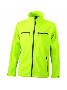 Pánská softshell bunda (JN Men's Tailored Softshell)>žlutá (acid)>M