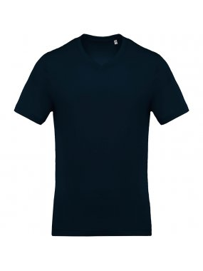 Pánské triko (KARIBAN MEN'S V-NECK SHORT SLEEVE T-SHIRT)>modrá (navy)>M