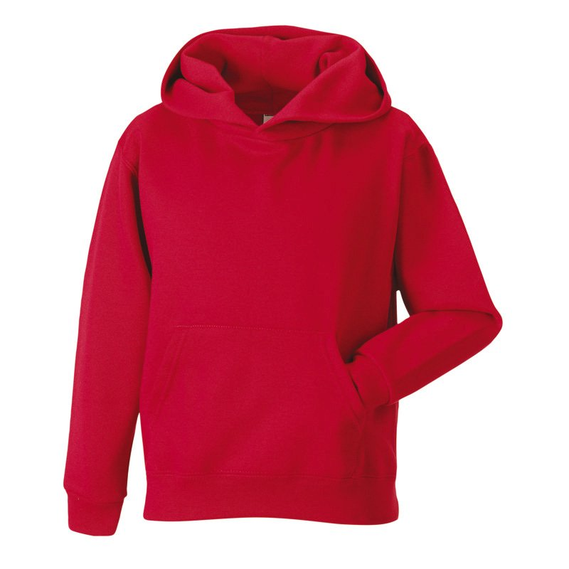 Dětská mikina (Children s Hooded RUSSELL) červená 9 10 - Reklamní ... 3333239618