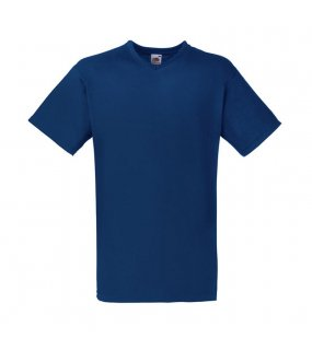 Pánské tričko (FRUIT OF THE LOOM Valueweight V-Neck T)>modrá (navy)>M