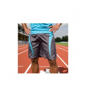 23fd6c73302 Unisex krátké kalhoty (SPIRO UNISEX MICROLITE TEAM SHORTS) šedá   modrá  (aqua. 99814.36M