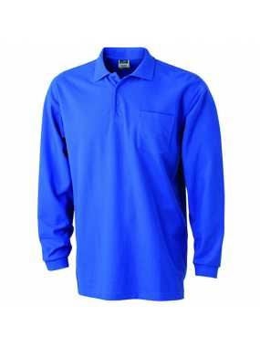 Pánská polokošile (JN Polo Piqué Long-Sleeved)>modrá (royal)>3XL