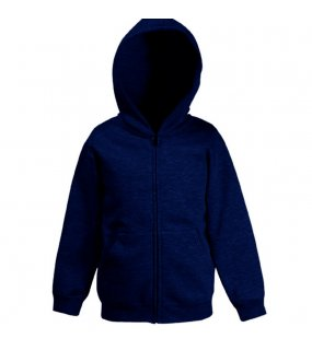Dětská mikina (FRUIT OF THE LOOM Kids Hooded Sweat Jacket)>modrá (deep navy)>14/15